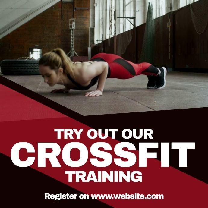 Crossfit fitness สี่เหลี่ยมจัตุรัส (1:1) template