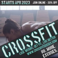 Crossfit Fitness Digital Promo Template