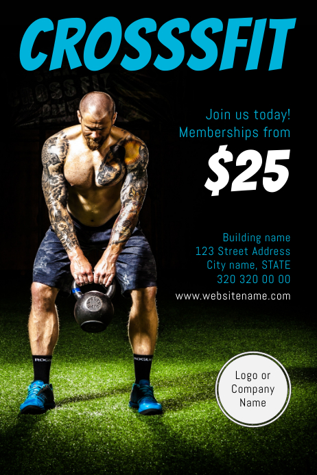 Crossfit Fitness Flyer Customize Template
