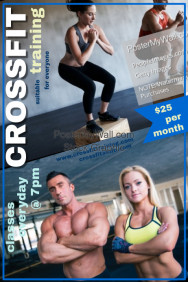 customizable design templates for crossfit flyer postermywall
