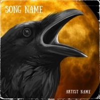Crow halloween Album cover Art template