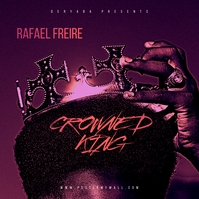 Crown King Afro Rap Hip-Hop Mixtape Cover Portada de Álbum template