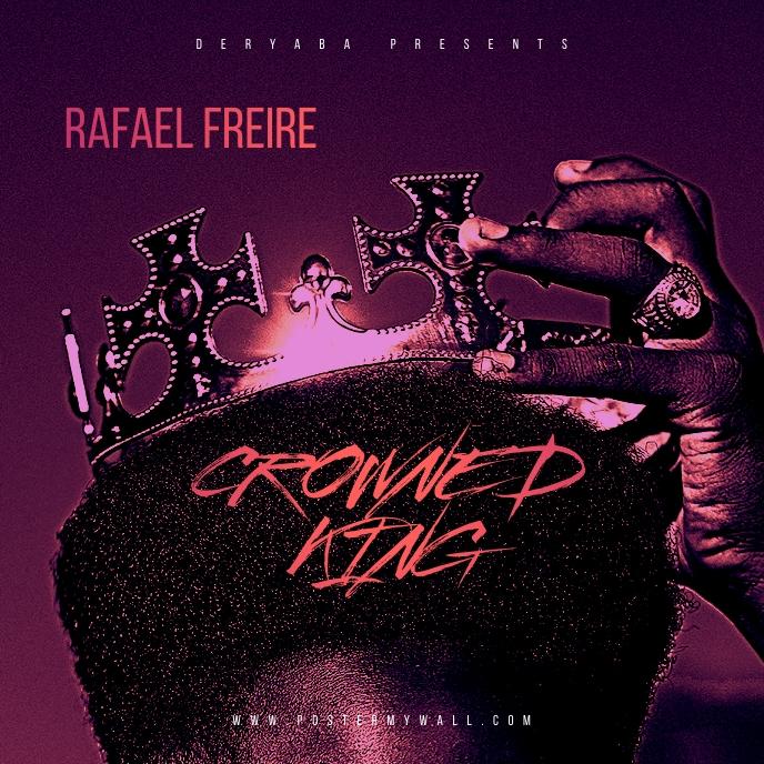 Crown King Afro Rap Hip-Hop Mixtape Cover Album Omslag template