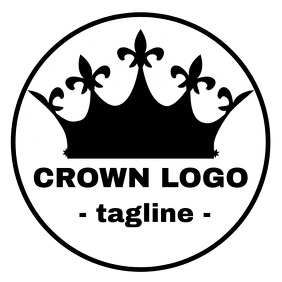 Crown logo black and white