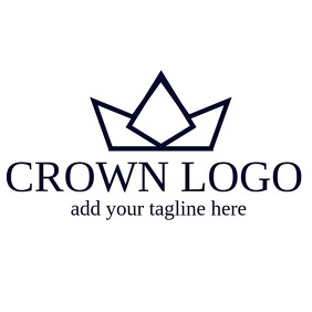 crown logo design template