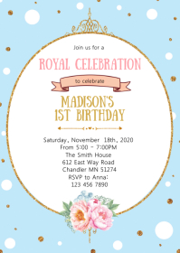 Crown princess birthday invitation