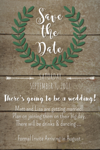 Crown Save the Date