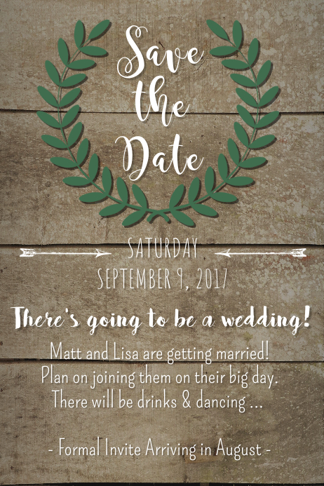Crown Save The Date. Customize Template