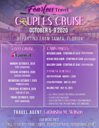 Cruise Flyer Volantino (US Letter) template