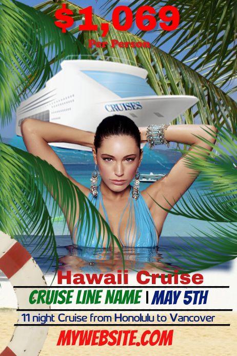 cruise line flyer template postermywall