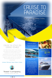 Cruise to paradise flyer