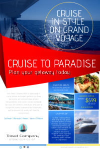 Cruise to paradise leaflet