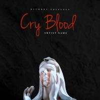 Cry Blood mixtape cover design template