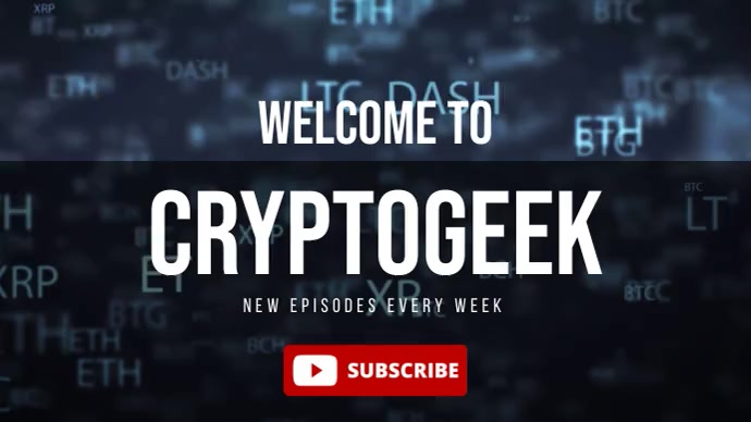 Crypto Currency Channel Banner Youtube Video template