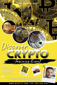 Crypto Affiche template
