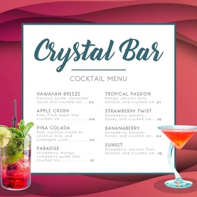 Crystal Bar Cocktail Menu Square Video