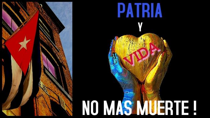 Cuba freedom liberation patria vida no muerte Facebook 封面视频 (16:9) template