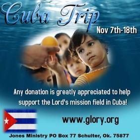 CUBA TRIP Quadrado (1:1) template