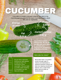 Cucumber Facts Vegetable Infographic Template