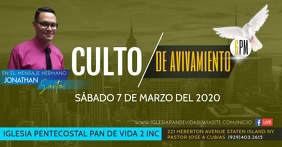 CULTO AVIVAMIENTO Facebook Event Cover template