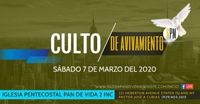 CULTO AVIVAMIENTO1 Facebook Event Cover template
