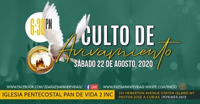 Culto de Avivamiento Facebook Event Cover template