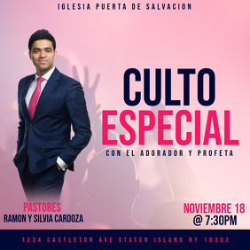 CULTO ESPECIAL Message Instagram template