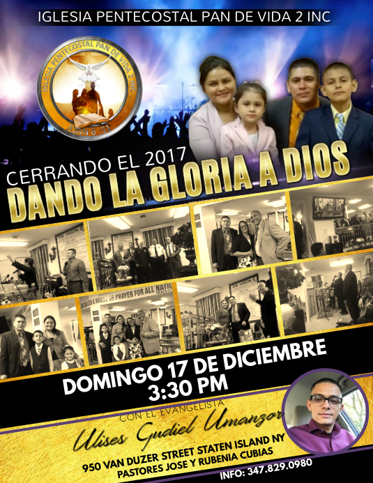 CULTO ESPECIAL Flyer (US Letter) template