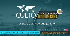 Culto Misionero Facebook Event Cover template