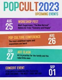 Culture upcoming events schedule video flyer 传单(美国信函) template