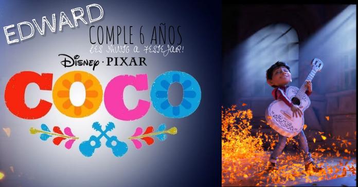 CUMPLEAÑOS COCO INVITACION