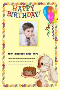 cumpleaños Poster template
