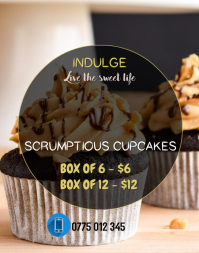 CUP CAKES Poster/Wallboard template