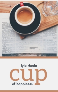 Cup of Happiness Kindle-cover template