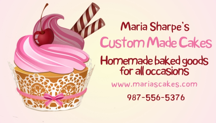 Cupcake baking business card template postermywall cupcake baking business card template accmission Image collections