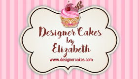 Customizable Design Templates For Cake Business Card PosterMyWall - Cake business card template