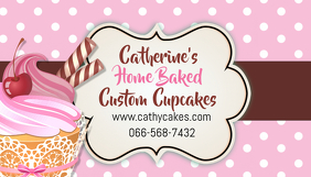 Cupcake Baking Business Card Template