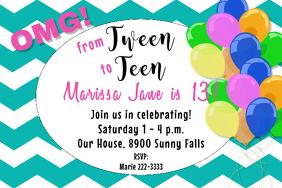 Cheveron Birthday Invite