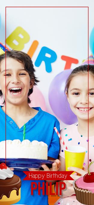 Cupcake Birthday Snapchat Filter