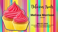 Cupcake Business Card Template Biglietto da visita