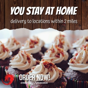 cupcake delivery poster template
