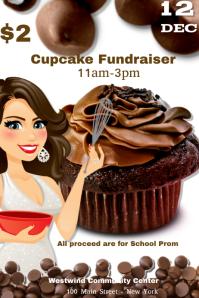 Cupcake Fundraiser Flyer