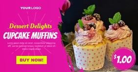 Cupcake Muffins Social Media Ad Template Imagem partilhada do Facebook