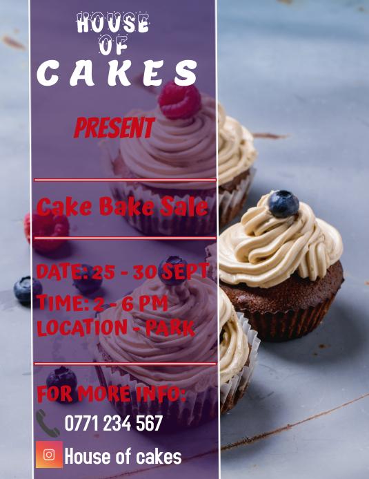 cupcake sale Løbeseddel (US Letter) template