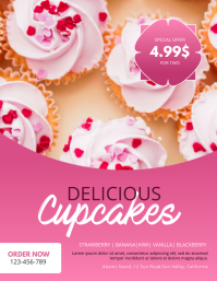 Cupcake Stand Flyer Design Template