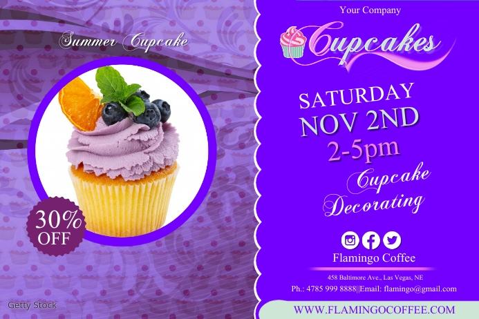 cupcake3 Plakat template