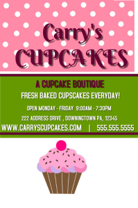 7 050 Customizable Design Templates For Cupcake Sale