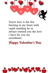 Cupid's Love To The Heart Valentine's Card