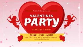 Cupid Valentine's Party Dinner Digital Display Video