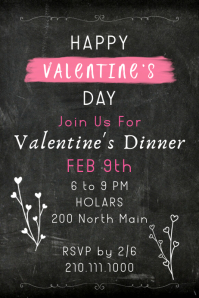 Cupids Dinner Poster template